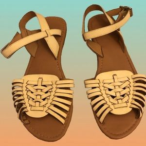 Ankle Strap Huarache Sandals